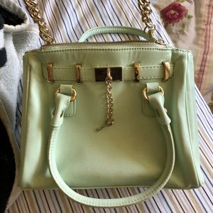 Handbags - Pastel Mint Leather Crossbody Bag